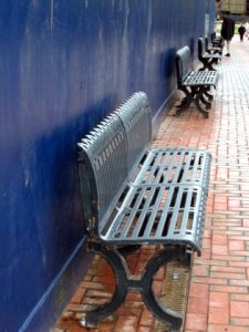 Benches being reused by Birmingham Library site
