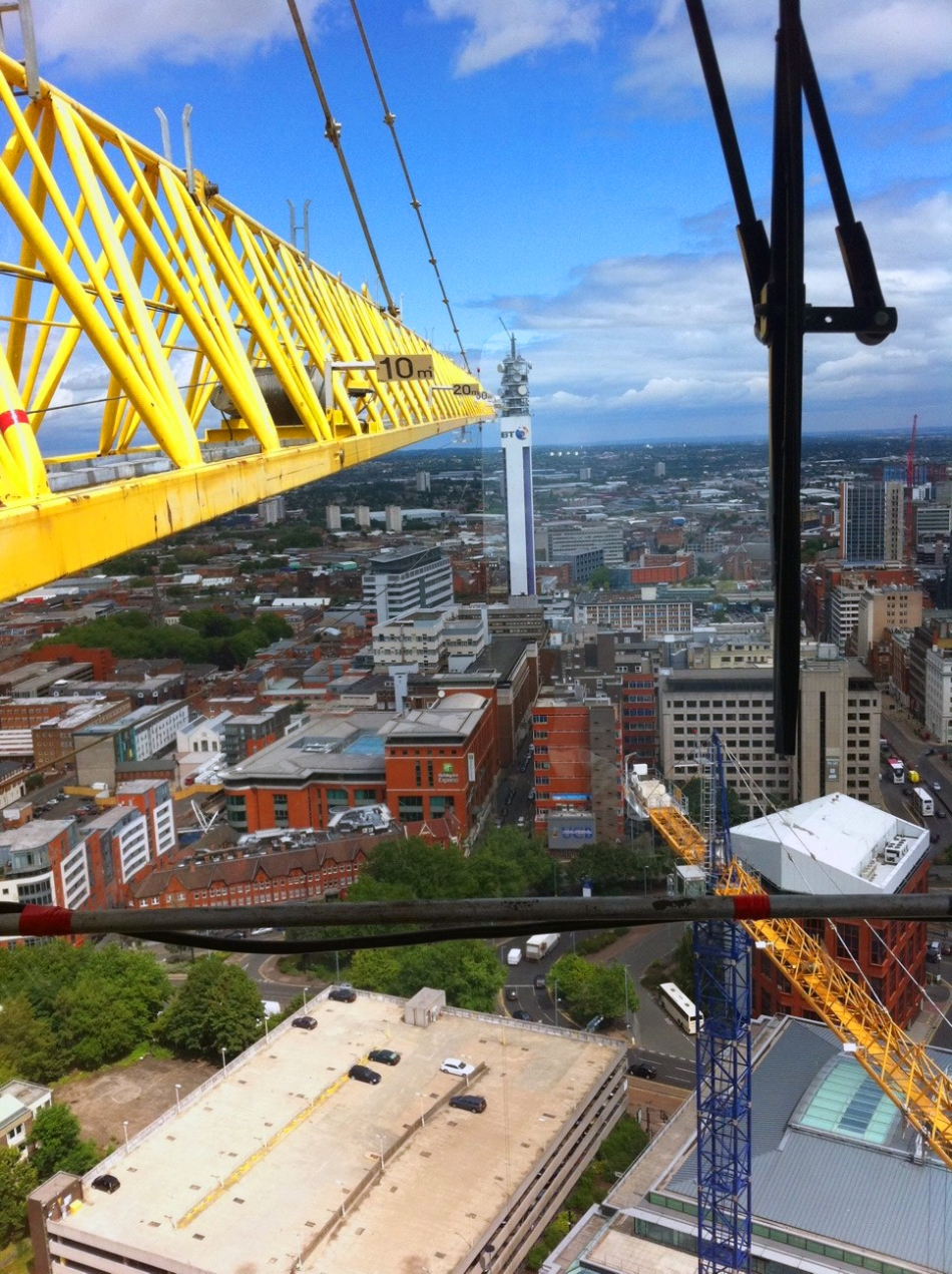 View from Library of Birmingham Tower Crane from James Brown - 1 of 3