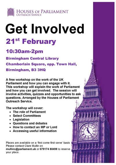 Parliament - Get Involved - Birmingham Flyer