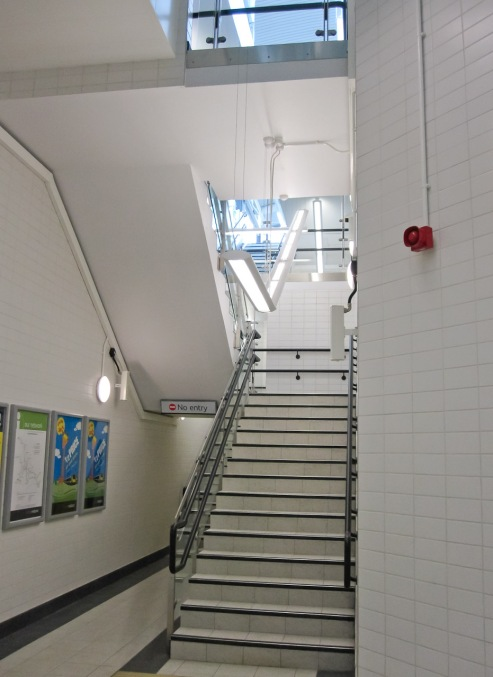 Stairs to platform level