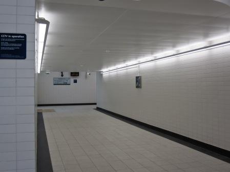Hall to second platform stairs, etc