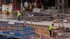 Construction of amphitheatre rim
