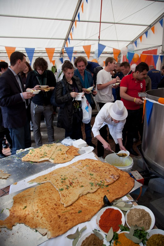 Balti being served to the lucky onlookers