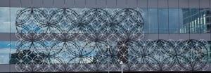 Library of Birmingham Metalwork Panels closeup