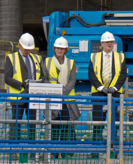 L to R Simon Dingle, Francine Houben, Mike Whitby in site safety attire!