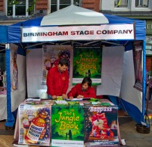 birminghamstage.com theatre productions stall in New Street