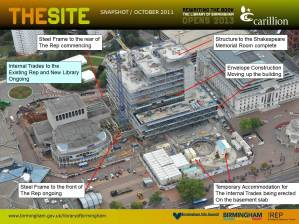 Library of Birmingham - The Site Snapshot October 2011