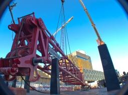 Mobile Crane top jib construction