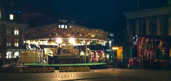 Building the merry-go-round for the Frankfurt Market 2012