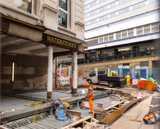 Waterstones restructuring is now beginning to take the structure proposed in the next photo.