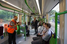 Conductors were also enthiusiastic in explaining the new tram service.