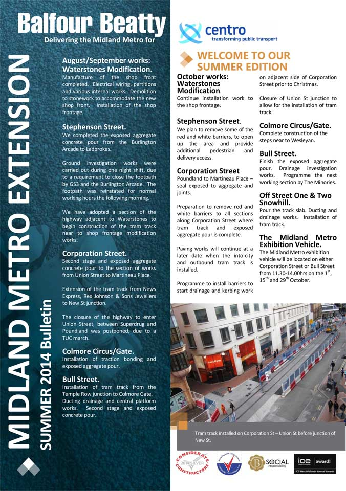 Metro Balfour Beatty Summer bulletin 2014-1