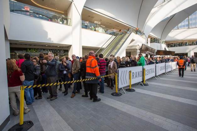 Queuing from when? to be the first to enter the new centre - just like the January Sales?