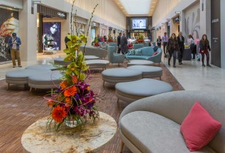 """The new """"Urban Room"""" on the first floor, a place to shop and relax."""