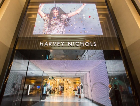 The main entrance to Harvey Nichols in The Urban Room.