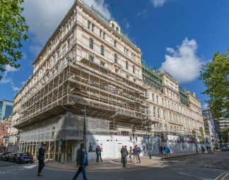The Grand Hotel with scaffolding today.