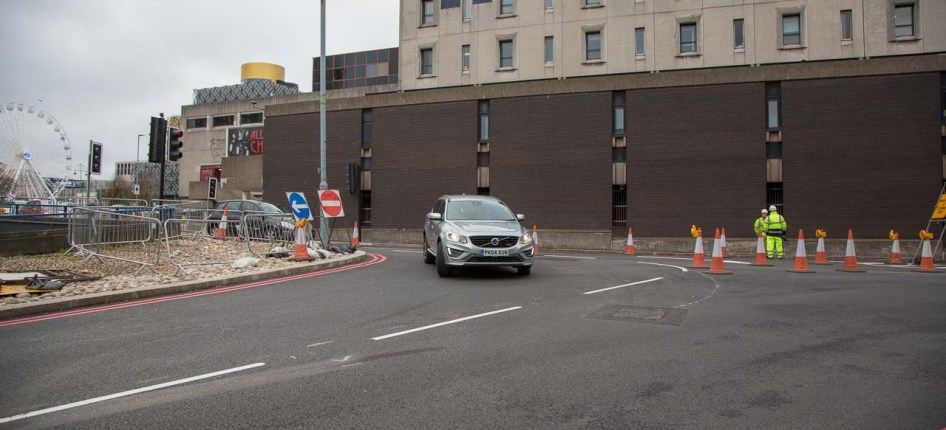 The new junction seen from Suffolk Street.