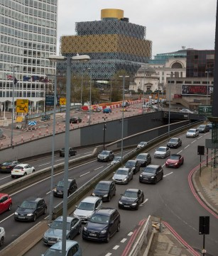 View of the junction towards the top of the image from Suffolk Street east carriageway.
