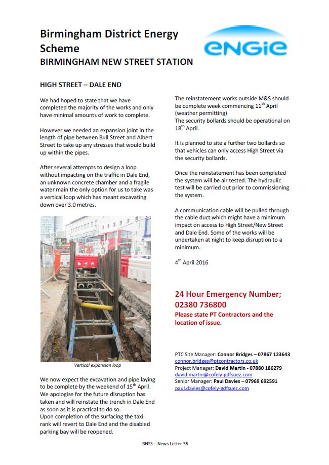 BNSS - News Letter 035 - High Street - Dale End