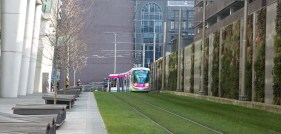 Passing Nos 1 and 2 Snowhill from the city centre