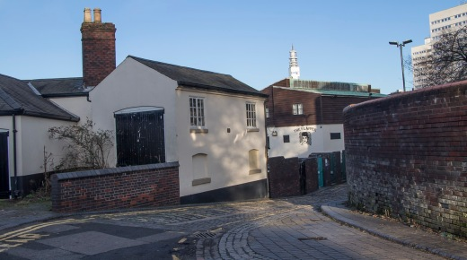 View of the Flapper down the lane from the Kingston Row houses